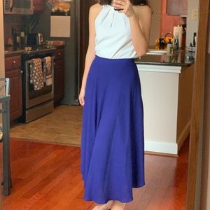 Skies are Blue Maxi Skirt Small